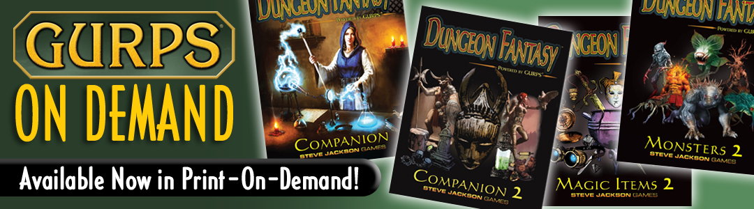 Banner link to GURPS On Demand 1